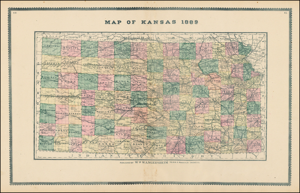 11-Plains and Kansas Map By H.R. Page  &  Co.