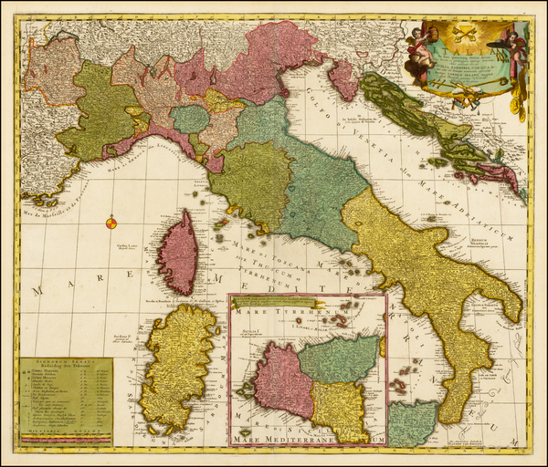 40-Italy and Balearic Islands Map By Carel Allard / Johannes Van Keulen