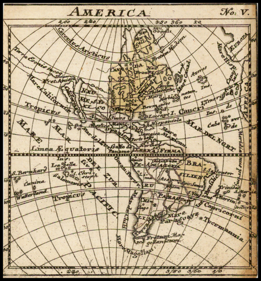 76-South America and America Map By Anonymous