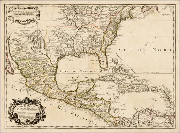 19-United States, South, Southeast, Texas, Midwest, Southwest, Rocky Mountains and Mexico Map By G