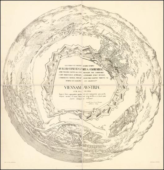 19-Austria Map By Heinrich Schmidt / Albert Camesina