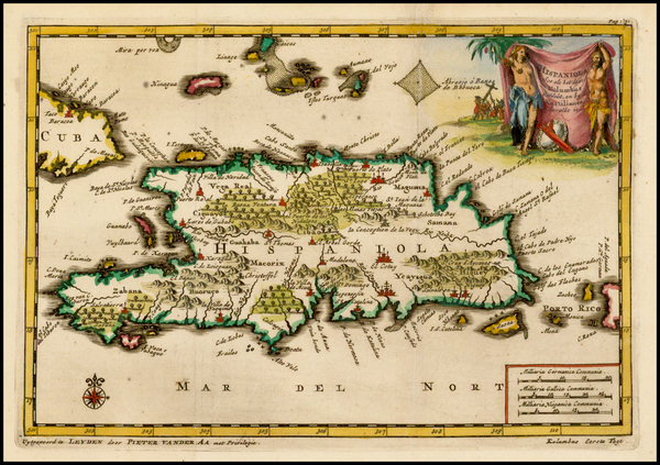 30-Caribbean and Hispaniola Map By Pieter van der Aa