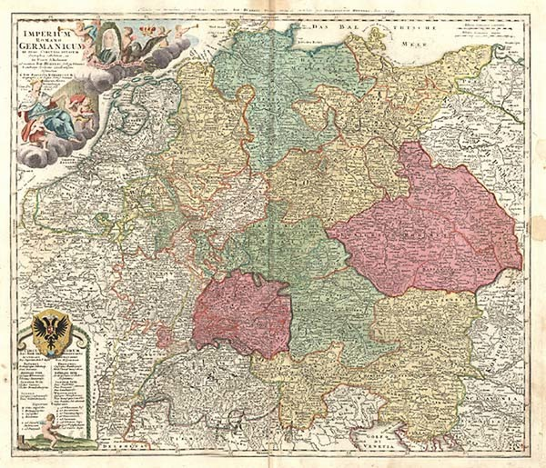 29-Europe, Netherlands, Germany, Austria and Baltic Countries Map By Johann Baptist Homann