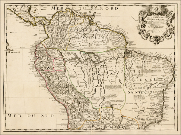 20-South America Map By Guillaume De L'Isle