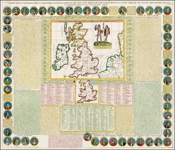 86-British Isles Map By Henri Chatelain