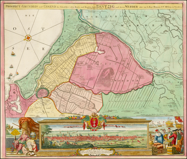 65-Poland and Baltic Countries Map By Johann Baptist Homann