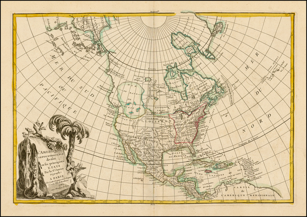 38-Alaska, North America and Canada Map By Jean Janvier