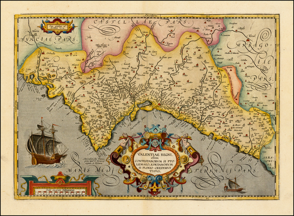 89-Spain Map By Abraham Ortelius