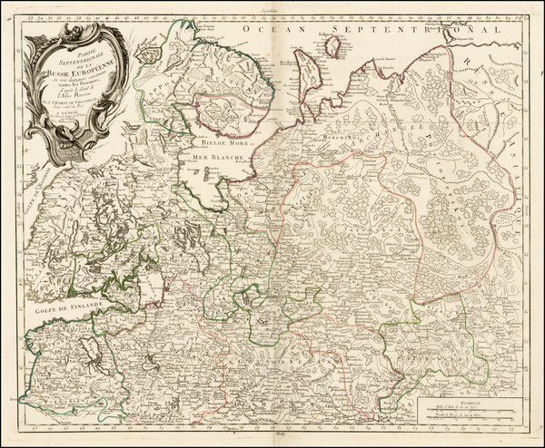 33-Russia and Russia in Asia Map By Gilles Robert de Vaugondy