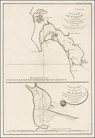 90-San Diego Map By Jean Francois Galaup de La Perouse