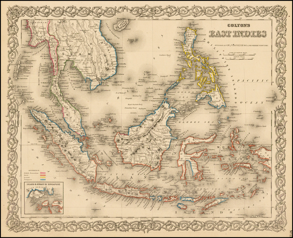 92-Southeast Asia, Philippines and Other Pacific Islands Map By G.W.  & C.B. Colton