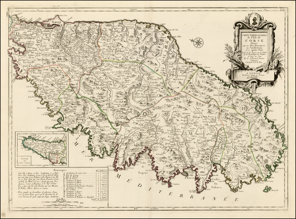 62-France and Corsica Map By Giovanni Antonio Remondini