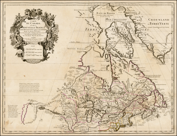 74-New England, Midwest, Plains, Rocky Mountains and Canada Map By Guillaume De L'Isle