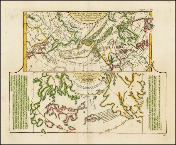 74-Alaska, Japan and Russia in Asia Map By Denis Diderot / Didier Robert de Vaugondy
