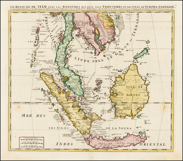 29-Southeast Asia, Indonesia, Malaysia and Other Islands Map By Henri Chatelain