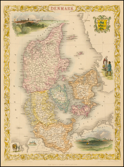 52-Scandinavia Map By John Tallis