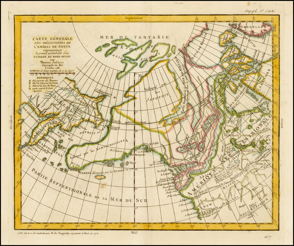 Polar Maps, Alaska and Canada Map By Denis Diderot / Didier Robert de Vaugondy