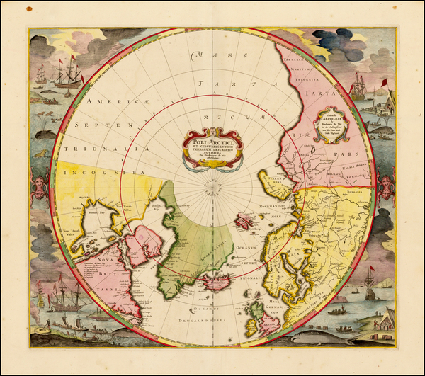 19-Northern Hemisphere, Polar Maps, Canada, Russia and Scandinavia Map By Frederick De Wit