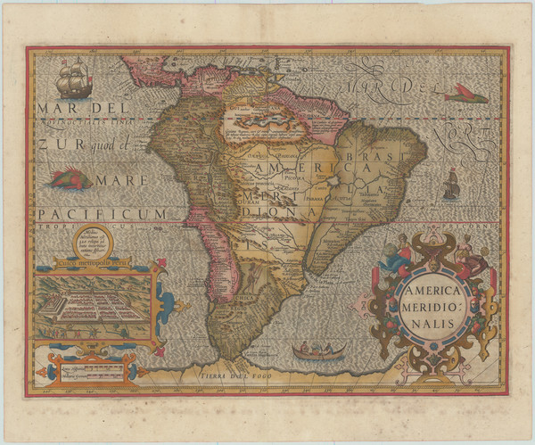 7-South America Map By Jodocus Hondius