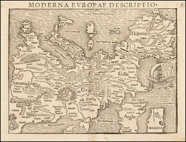 63-Europe and Europe Map By Sebastian Munster