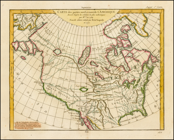 79-Alaska, North America and Canada Map By Denis Diderot / Didier Robert de Vaugondy