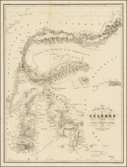 84-Southeast Asia and Indonesia Map By Pieter Baron Melvill van Carnbee