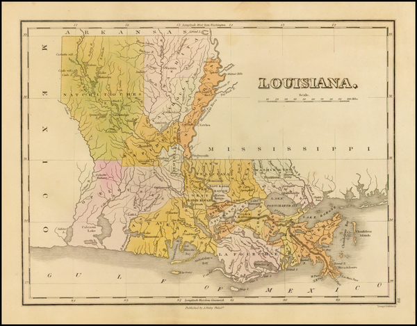 15-South and Louisiana Map By Anthony Finley