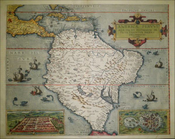 35-South America and Brazil Map By Cornelis de Jode
