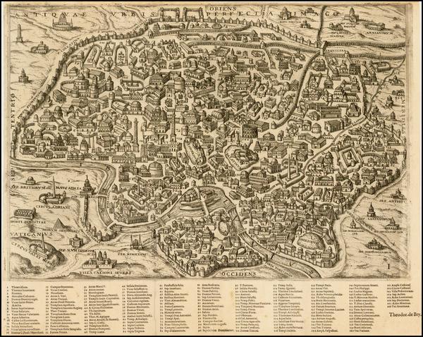 54-Italy Map By Theodor De Bry