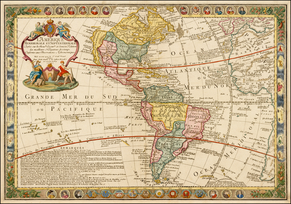 83-South America and America Map By Guillaume Danet