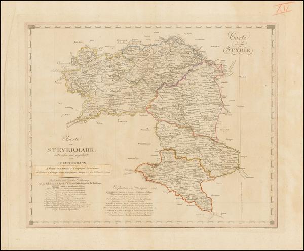22-Austria Map By I.C. Kindermann