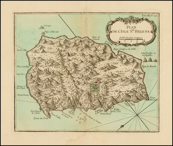69-African Islands, including Madagascar Map By Jacques Nicolas Bellin