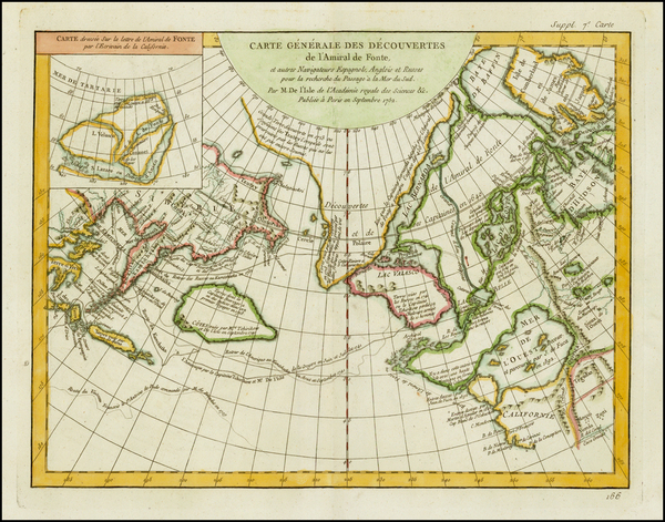 42-Alaska, Canada and Russia in Asia Map By Denis Diderot / Didier Robert de Vaugondy
