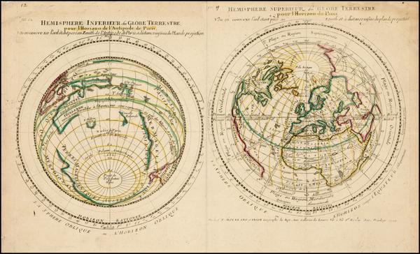 93-World, World, Northern Hemisphere, Southern Hemisphere and Polar Maps Map By Pierre Moullart Sa