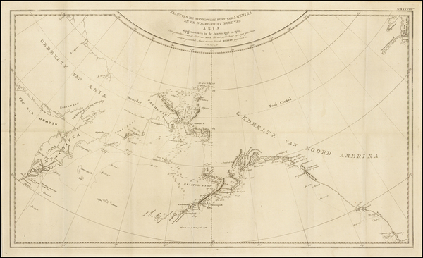 28-Polar Maps, Alaska, Canada, Pacific and Russia in Asia Map By James Cook / J. C. G. Fritzsch