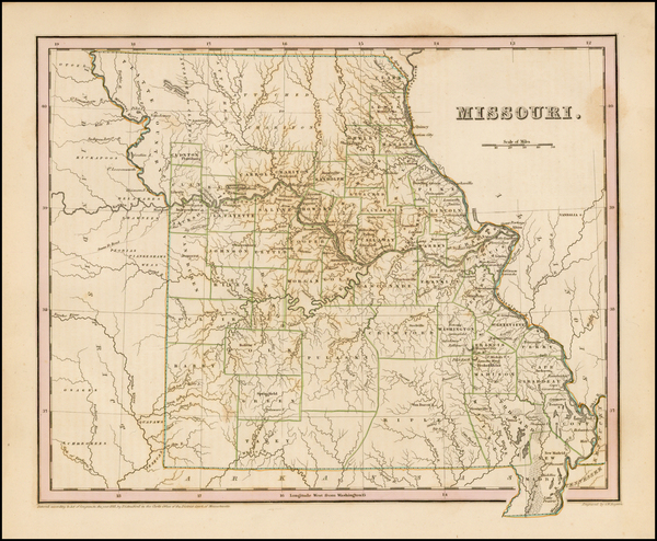 22-Midwest and Missouri Map By Thomas Gamaliel Bradford