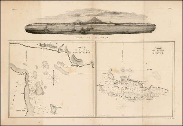 86-Southeast Asia, Indonesia and Other Islands Map By Phillip Franz von Siebold