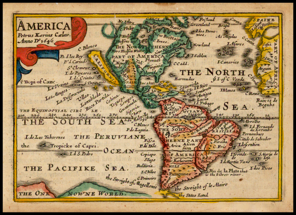 73-South America and America Map By John Speed