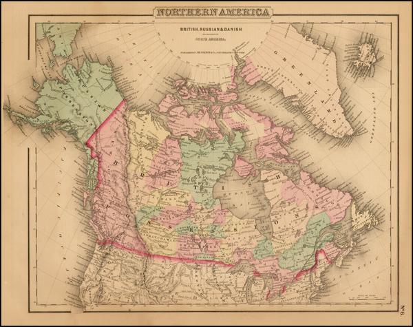 53-Alaska and Canada Map By Joseph Hutchins Colton