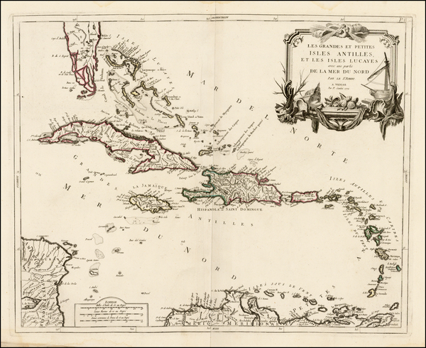 33-Caribbean and Bahamas Map By Paolo Santini