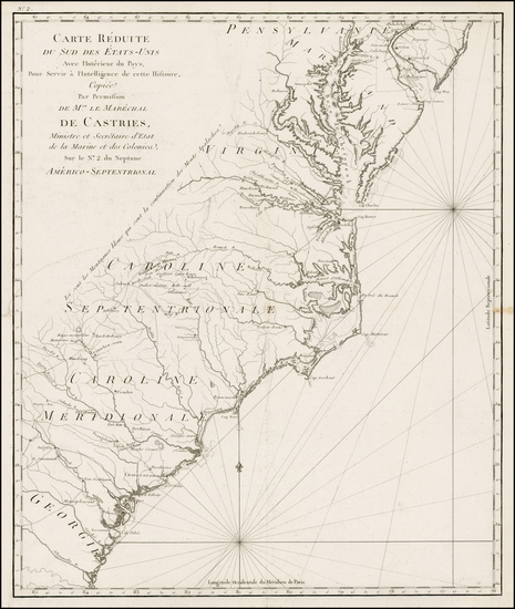 28-Mid-Atlantic and Southeast Map By Odet-Julien Le Boucher
