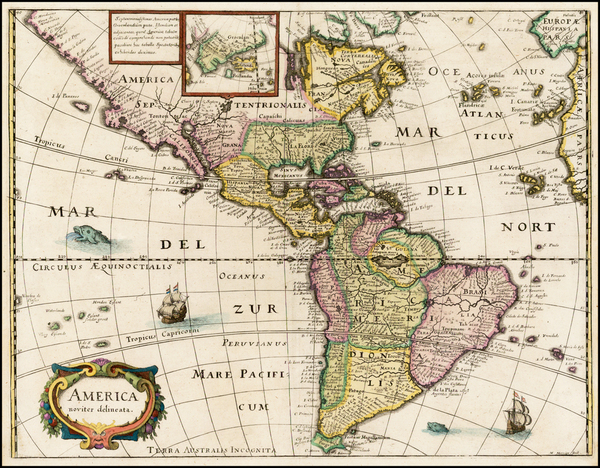 20-South America and America Map By Matheus Merian