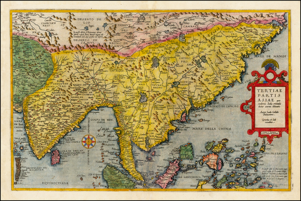 22-China, India, Southeast Asia, Philippines, Other Islands and Central Asia & Caucasus Map By
