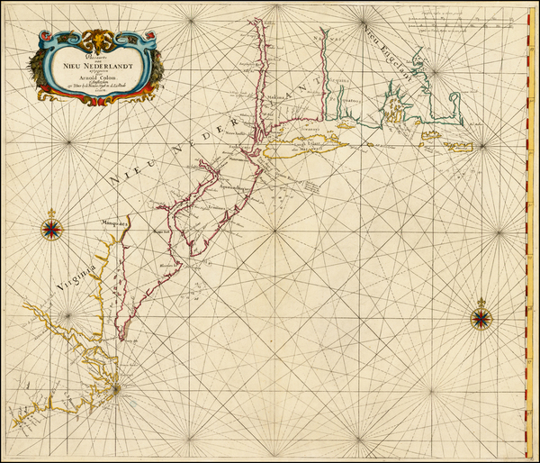 59-New England, Mid-Atlantic and Southeast Map By Arnold Colom