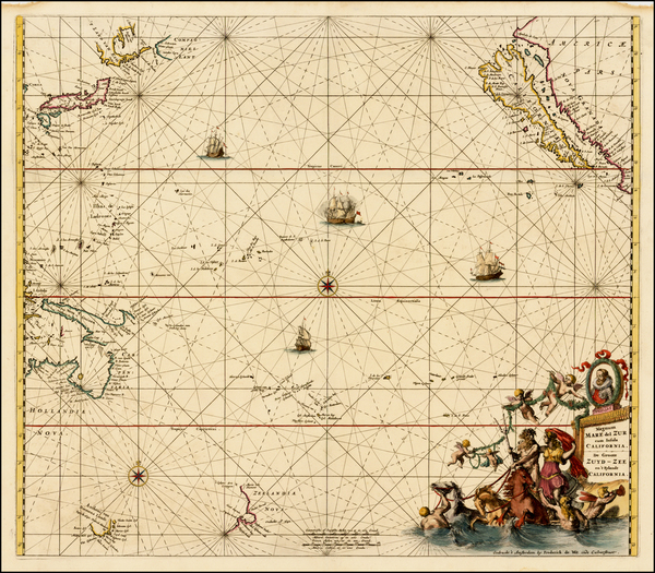 72-Australia & Oceania, Pacific, Australia, Oceania, New Zealand and California Map By Frederi