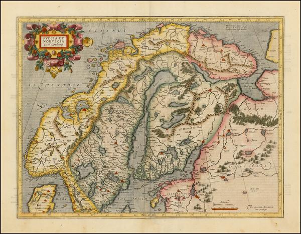 99-Scandinavia Map By Gerhard Mercator