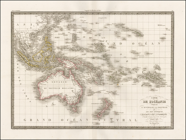 17-Southeast Asia, Australia, Oceania and Other Pacific Islands Map By Alexandre Emile Lapie
