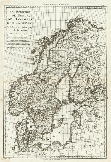 45-Europe and Scandinavia Map By Rigobert Bonne