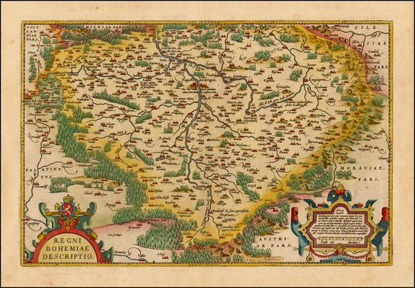 10-Czech Republic & Slovakia Map By Abraham Ortelius