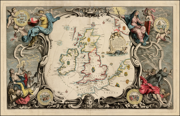 British Isles Map By John Pine